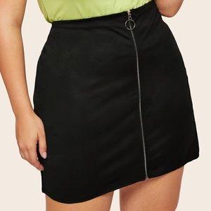 Plus Zip Up Skirt